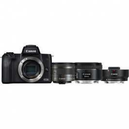 Canon M50 + M 15-45 IS STM + obj. 50/1.8 + ADAPTER (2680C061)