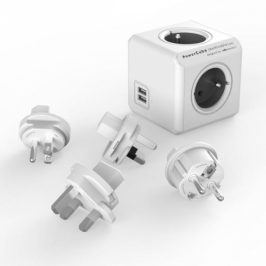 Powercube Rewirable USB + Travel Plugs - šedý (456308)