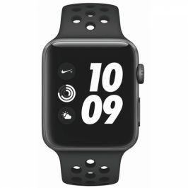 Apple Series 3 GPS 42mm pouzdro z vesmírně šedého hliníku - antracitový/černý sportovní řemínek Nike (MTF42CN/A)