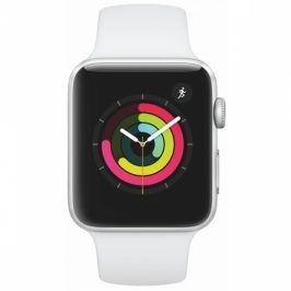Apple Watch Series 3 GPS 42mm pouzdro ze stříbrného hliníku - bílý sportovní řemínek (MTF22CN/A)