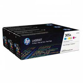 HP 305A, 3x2600 stran, CMY (CF370AM)