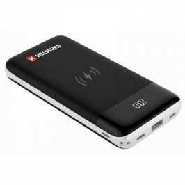 Swissten All-In-One 10000mAh, Micro USB/USB-C/Lightning, QC 3.0, Qi (22013927)