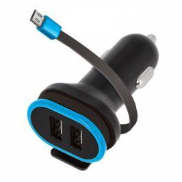 Forever CC-02, 2x USB, micro USB kabel (PSC2USB3AMUKTFO)