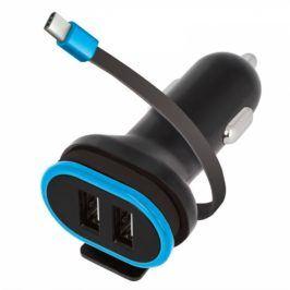 Forever CC-02, 2x USB, USB-C kabel (PSC2USB3AUCKTFO)