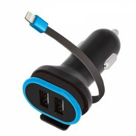 Forever CC-02, 2x USB, lightning kabel (PSC2USB3ALKTFO)
