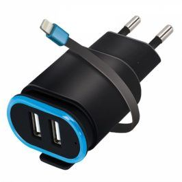 Forever TC-02, 2x USB, lightning kabel (ATC2USB24ALKBKTFO)