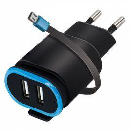Forever TC-02, 2x USB, micro USB kabel (ATC2USB24AMUKBKTFO)