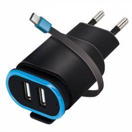Forever TC-02, 2x USB, USB-C kabel (ATC2USB24AUCKBKTFO)