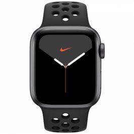 Apple GPS 40mm pouzdro z vesmírně šedého hliníku - antracitový/černý sportovní řemínek Nike (MX3T2HC/A)
