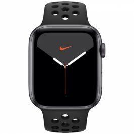 Apple GPS 44mm pouzdro z vesmírně šedého hliníku - antracitový/černý sportovní řemínek Nike (MX3W2HC/A)