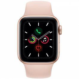 Apple GPS 40mm pouzdro ze zlatého hliníku - pískově růžový sportovní řemínek (MWV72HC/A)