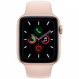Apple GPS 44mm pouzdro ze zlatého hliníku - pískově růžový sportovní řemínek (MWVE2HC/A)