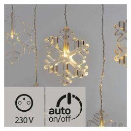 EMOS 8 LED vánoční závěs, vločky, 80cm, venkovní, teplá bílá, časovač (1534226500)