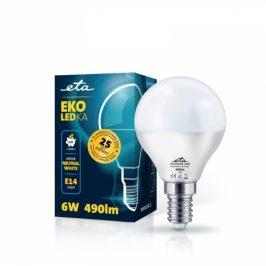 ETA EKO LEDka mini globe 6W, E14, neutrální bílá (P45W6NW)