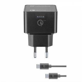 CellularLine USB-C PD, 30W, QC 4+, USB-C kabel 1m (ACHKITQC4TYCK)
