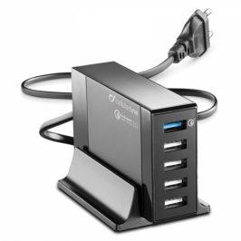 CellularLine Energy Station QC 3.0, 5 x USB, max 50W (ACHUSB5QUAL9Ak)