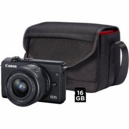 Canon M200 + EF-M 15-45 IS STM + SB130 + 16 GB karta (3699C040)