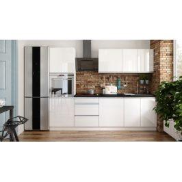 Kuchyně Maya - 260 cm (bílá vysoký lesk)