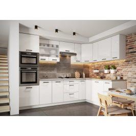 Rohová kuchyně Vicky pravý roh 290x180 cm (bílá vysoký lesk)