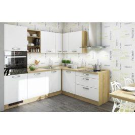 Rohová kuchyně Sabrina pravý roh 240x200 cm (bílá/dub arlington)
