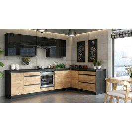 Rohová kuchyně Brick pravý roh 300x182 cm - II. jakost