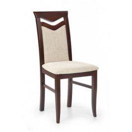 Jídelní židle Citrone, buk (ořech tmavý/potah béžová)
