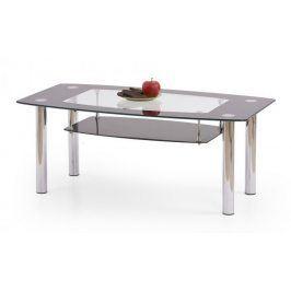 Konferenční stolek Salome (sklo s černým rámem)