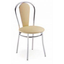 Jídelní židle Tulipan Plus (béžová, chrom)
