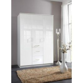 Clack - Skříň, 3x dveře (bílá, bílá)