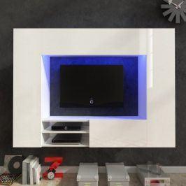 Net - Obývací stěna (bílá/bílá lesk)