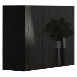 Livo - Komoda 120 (černá mat/černá lesk)