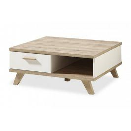 Konferenční stolek Oslo - 2292-221 (bílá,dub sanremo)