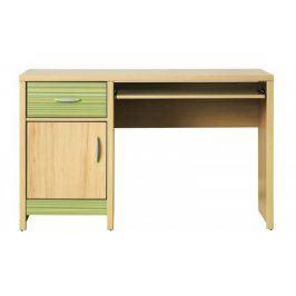 Monza - pracovní stůl, CD 11 (višeň cornvall, zelená)