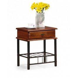 Noční stolek Fiona (antická třešeň, černá)
