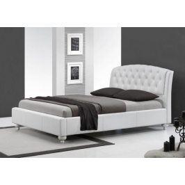 Čalouněná postel Sofie - 160x200, rám postele, rošt (bílá)