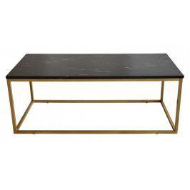 Konferenční stolek Beside - vzhled černého mramoru (kov, lamino)