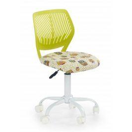BALI - dětská židle, sovy zelená, regulace výšky sedáku