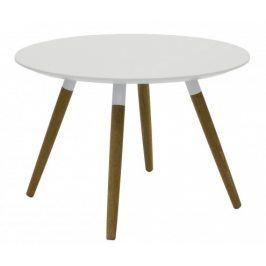 Konferenční stolek Lola Fido (bílá, dub)