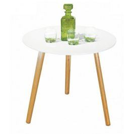 Konferenční stolek bílý Winter - dubové nohy (dub/bílá)