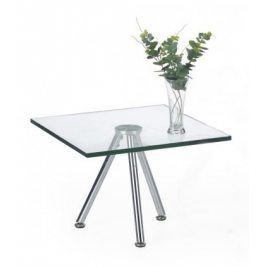 Konferenční stolek Solo - čtvercový, nižší (transp. sklo, chrom)