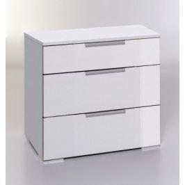 Komoda LevelUp D - 3x zásuvka (bílá VL, bílá)