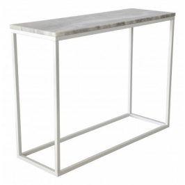 Přístavný stolek Accent - obdélník (mramor, bílá)