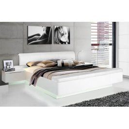 Dřevěná postel Starlet Plus 180x200 cm, bílá