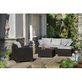 Maatea - Zahradní sedací souprava (grafit/šedá)