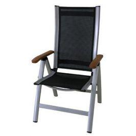 Comfort - Polohovací křeslo (stříbrná, černá )