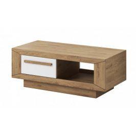 Lumi - Konferenční stolek (dub beaufort, bílý lesk)