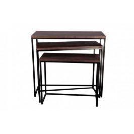 Konferenční stolek Giewont - set 3 kusů (černá/javor)