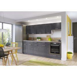 Kuchyně Modern Lux - 240 cm (šedá vysoký lesk)