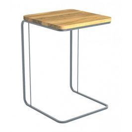 Přístavný stolek Modern (hnědá, šedá)