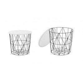 Přístavný stolek Mariffa (černá/bílá)